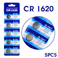AE Button battery 5 Pcs 3V Lithium Coin Cells Button Battery CR1620 1620 ECR1620 EE6222