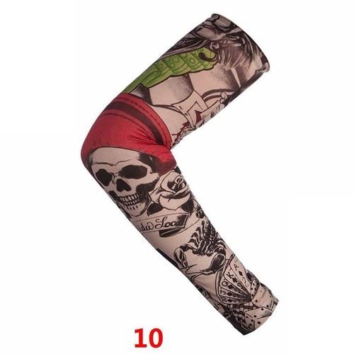 1Pcs Trendy Men Women New High Elastic Fake Temporary Tattoo Sleeve Designs Summer Sunscreen Body Arm Warmers UV Halloween Dance Pakistan