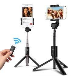 3 في 1 Selfie عصا حامل ثلاثي للهاتف قابلة للتمديد 26 بوصة Monopod مع بلوتوث عن بعد للهواتف الذكية آيفون X 8 6 سامسونج S8 S9 ملاحظة