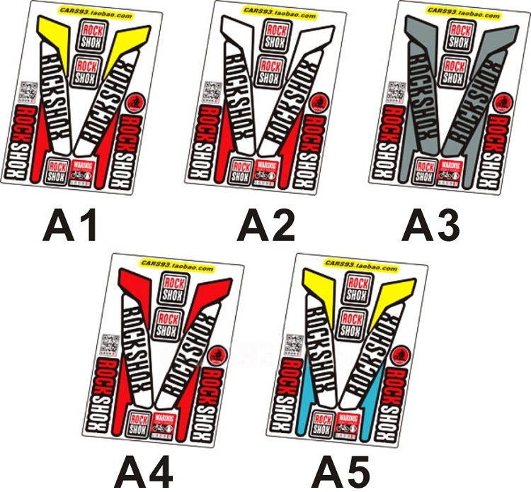 5colours 2pcs set 3m fork decals bicycle front fork stickers high quality stickers mtb front fork decals bicycle stickers in bicycle stickers from sports