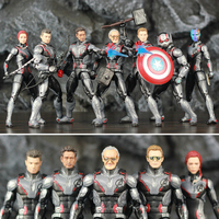 Marvel Legends Avengers 4 Endgame Quantum Suit Team 6 Action Figure Stan Lee Tony Stark Captain America Nebula Thor Ant Man Toy