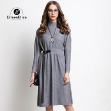 Autumn Runway Dress Women 2017 Big Size Woman