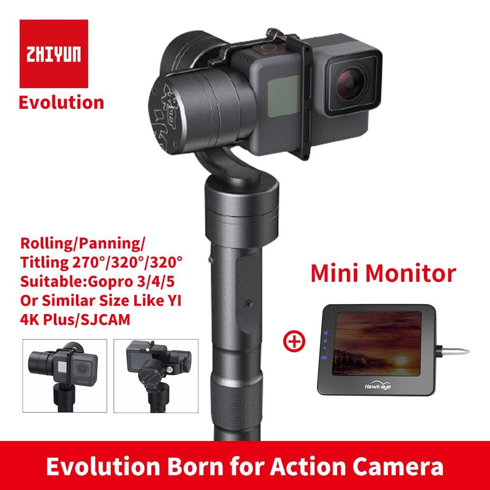 Zhiyun Z1 Evolution 3 оси Gimbal Бесщеточный 320 градусов перемещение ручные стабилизаторы стабилизатор для GoPro SJCAM Yi Экшн камеры