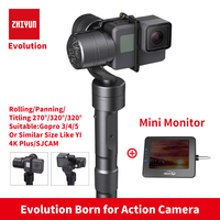 Zhiyun Z1 EVOLUTION 3 Axis Gimbal Brushless 320 Degree Moving Handheld Gimbal Stabilizer For GoPro Sjcam
