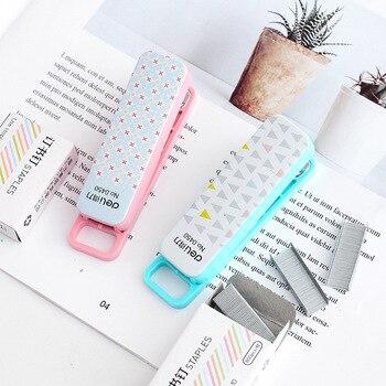 Mini Grapadora con grapa 10 #800 Uds., herramientas de encuadernación de Oficina,...