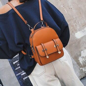 98875da82f16e DIEHE Marka Yeni Tasarım Moda Sırt Çantası Mochilas Seyahat PU Deri Küçük Sırt  Çantası Kadın gençler için sırt çantaları Kız Okul Çantaları