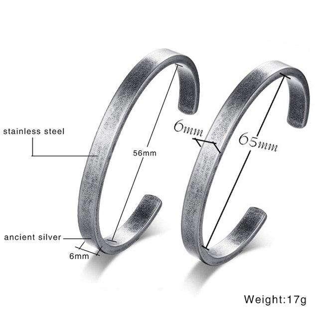 Vnox Vintage Viking manchette Bracelets Bracelets pour hommes femmes Simple classique Pulseras hombre acier inoxydable homme bijoux 2