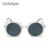6 Color 2016 de La Moda de lujo gafas de sol de diseñador de la marca mujeres Gafas de Sol Cuadradas Para las mujeres UV400 Multicolor Ronda lente Eyewear