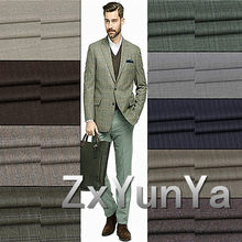 Europe and America station plaid worsted suit wool fabric trousers craft custom clothing 0.5m