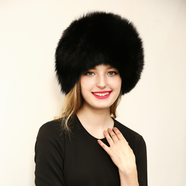 2016 New Autumn Faux Fur Cap Women Luxury Brand Long New Bomber Hat Faux  Leather Cap Black White Gray 2 Fluffy Balls Winter Hat 3c9d6b77146