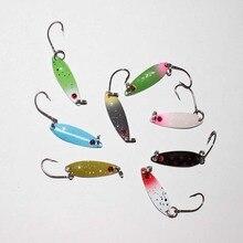 hot sale 32pcs/lot 3cm 2g metal fishing spoon lure artificial bait mixed colors metal trout lure fishing bait pike lure