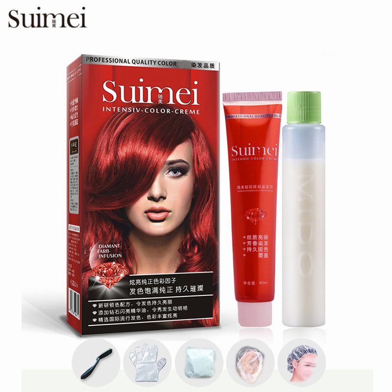 Professional Permanent Hair Dye Color Cream Styling Tools Green Red