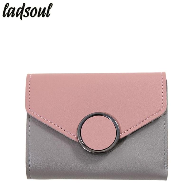 LADSOUL Women Wallets Short Purses Famous Brand Women's Wallets Female Purse Clutch Coin Bags Credit Card Holder Purse A2321/g