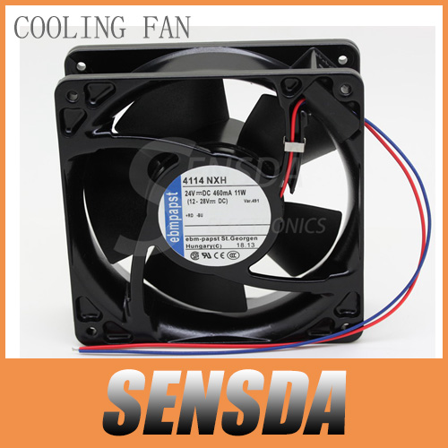 PAPST ebmpapst fan 4114 NXH 1238 12038 12cm 120mm DC 24V 11W 460mA server inverter industrial cooling fans cooler