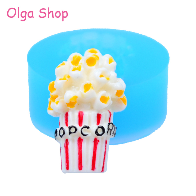 US $1 77  XYL080 24 3mm Popcorn Flexible Silicone Mold Sugarcraft Cake  Decorating, Fondant, Cabochon, Resin, Candy, Chocolate, Food Safe-in Cake  Molds