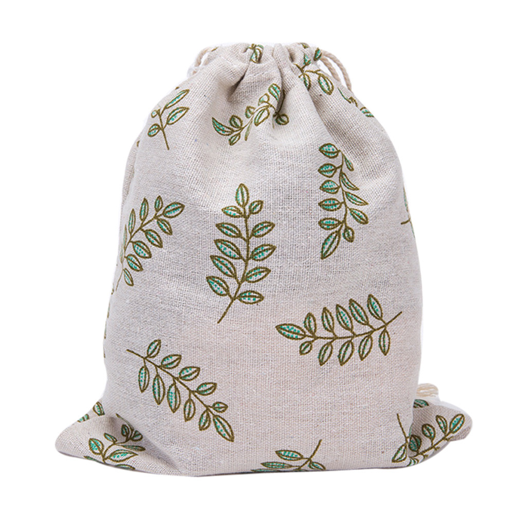 universal printing cotton and linen travel DrawString storage bag DrawString bag can be loaded with mobile