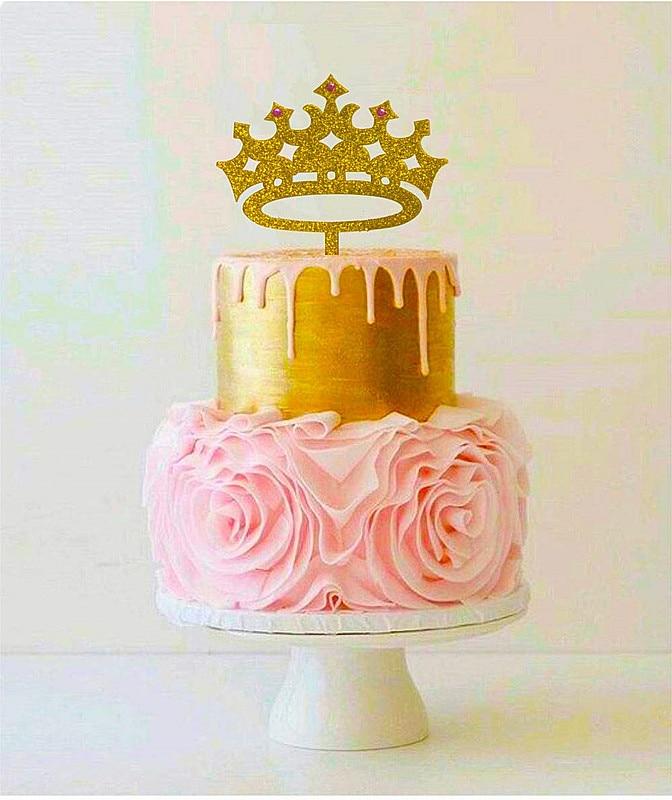 Awesome Princess Crown Cake Topper Girl Birthday Queen First Birthday Funny Birthday Cards Online Elaedamsfinfo