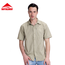 ROYALWAY Camping Hiking Shirts Quick Dry Breathable UV Proof 50+ Short Sleeve #RIM7056CS