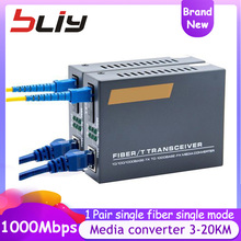 10/100/1000Mbps Gigabit 3 กม.20 KM Media Converter Fiber Optic Transceiver FTTH ไฟเบอร์ออปติก Conversor de Fibra Ethernet Switch