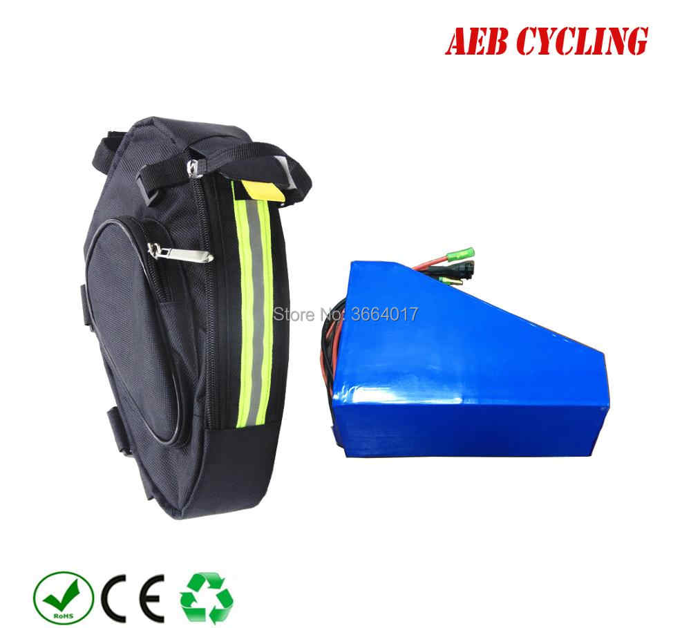 Free shipping and taxes to EU US 36V 48V 250W-500W 10Ah 11.6Ah 12.8Ah 14Ah 16Ah 17.5Ah customized triangle battery for ebike