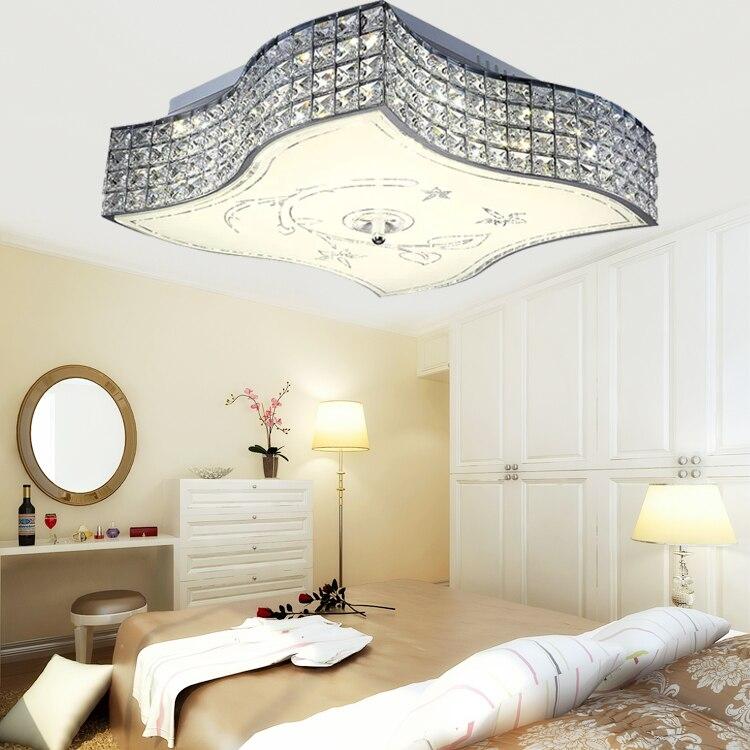 ୧ʕ ʔ୨modern brief rustic wall lamp bedroom crystal flower living