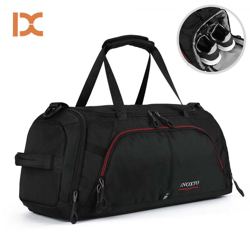 2019 Outdoor Male Female Sport Bag Waterproof Travelling Nylon Handbag Fitness Shoulder Gym Bag Training Yoga Duffel Bag
