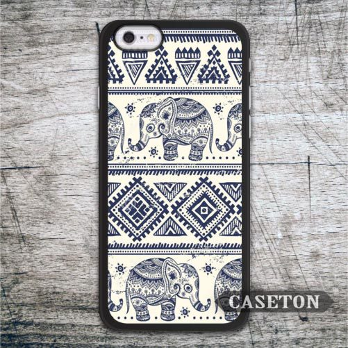 White Tribal Elephant Aztec Case For iPhone 7 6 6s Plus 5 5s SE 5c and For iPod 5 High Quality Classic Protective Cover