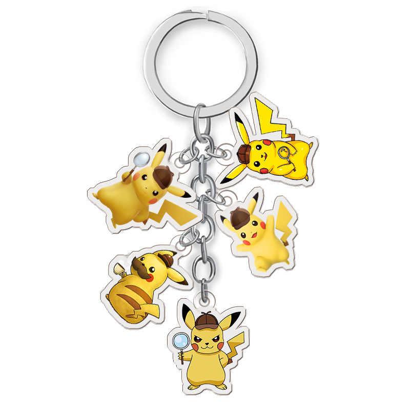 Filme Anime Detetive Chaveiro Moda Pokemon Picachu Ir Chave Do Carro Saco Titular Cadeias Pingentes Chaveiro Acessórios