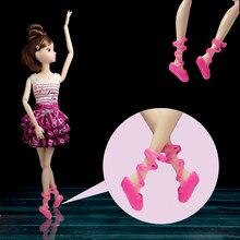 431cb64571 5 pares lote Ballet Shoes Bind-tipo Mista Cores Da Moda Do Dedo Do Pé  Sapatos para Boneca Barbie Dolls Peças Acessórios Presente.