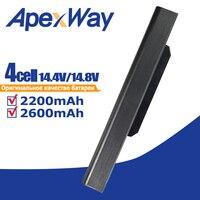 ApexWay 14.8v A32 K53 bateria do laptopa asus A31 K53 A42 K53 K53S X53E A53JC AK53JE A53JH A41 K53 K53 K53E X54C X53S X53 w Akumulatory do laptopów od Komputer i biuro na