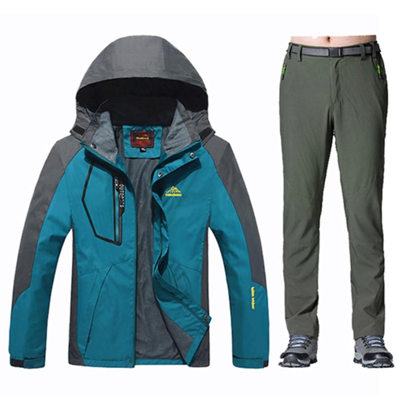 2017 Outdoor Spring Autumn Hiking Rain Jacket Men Sports Coat Costume Fishing Waterproof Windproofs Suit Free Pants In Jackets From