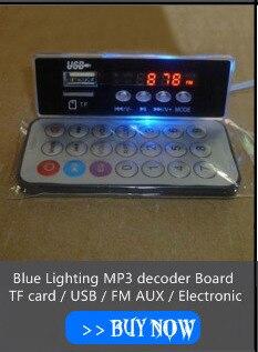 USB FM AUX Relógio Eletrônico Cartão de