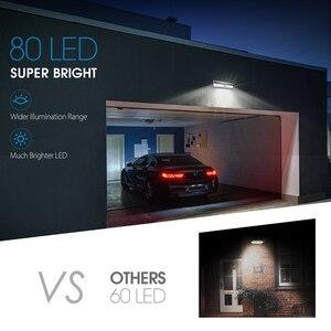 Image 2 - Mpow CD124 80 LED Solar Light 120 Degree Sensing Angle Outdoor Light 3 Adjustable Lighting Time For Garden Driveway Yard Garage