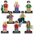 Мини-Теория Большого Взрыва TBBT фигура Эми Лесли Шелдон Леонард Пенни Раджеш Говард Строительный Блок Игрушки Совместим с Lego