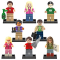 Mini The Big Bang Theory TBBT figure Amy Leslie Sheldon Leonard Penny Howard Rajesh Building Block Toy Compatible with Lego