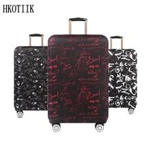 Wysokiej jakości walizka turystyczna Elastyczna osłona przeciwpyłowa walizka walizka ochronna do 18 ~ 32 cala walizka ochronna tanie tanio Akcesoria podróżne Literę A104 Spandex Elastyczna tkanina W HKOTIIK 42cm Pokrowiec na bagaż do 0 4 kg 65cm 26CM