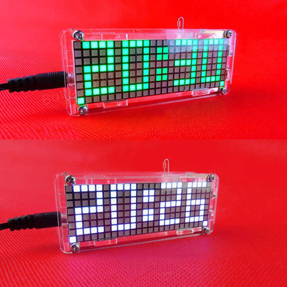 عالية الدقة الرقمية نقطية LED المنبه DIY كيت مع شفافة حالة درجة الحرارة التسجيل عرض الوقت