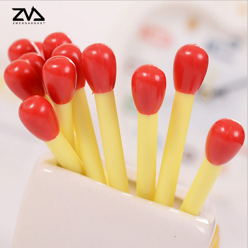 20 Pcs/box Noble Mini Match Shape Ballpoint Pen For Writing School Supplies Office Accessories Stationary Kids Student Gift