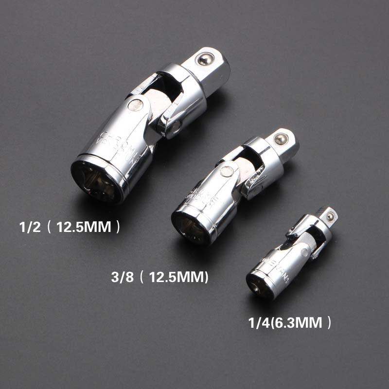 "3pc 1/4"" 3/8"" 1/2"" Drive Universal Joint Socket Set Flex U Joint Wobble Adapter Online Discount"