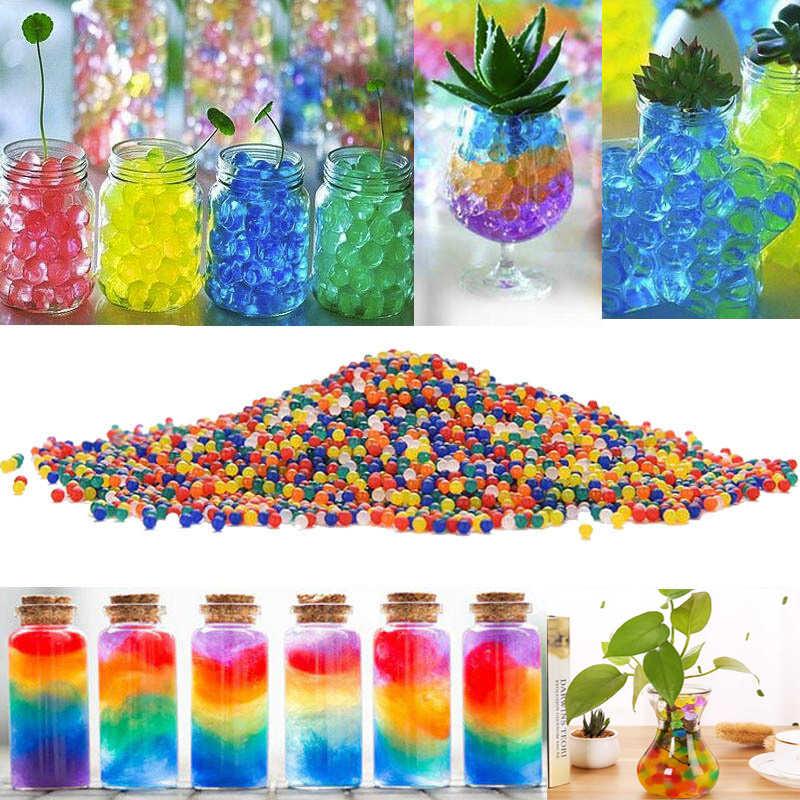 Около 100 шт/партия гидрогелевые в форме кристаллов, почвы, воды, бусин, грязи, растут, волшебные шарики, бусины, домашний декор, свадебное пасхальное украшение