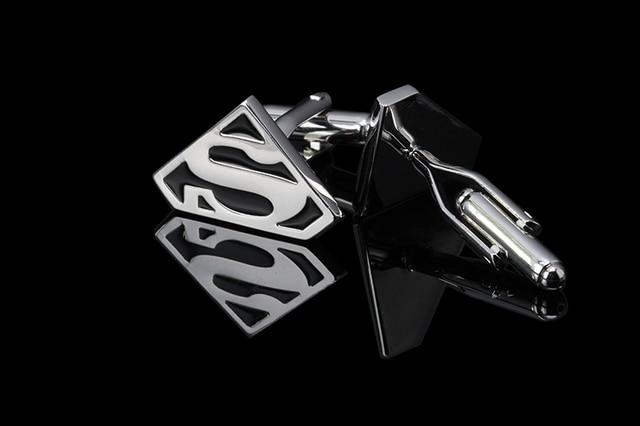 Star Wars empire cufflinks galactic empire superman mask shirt cuff button silver plated jewelry brand