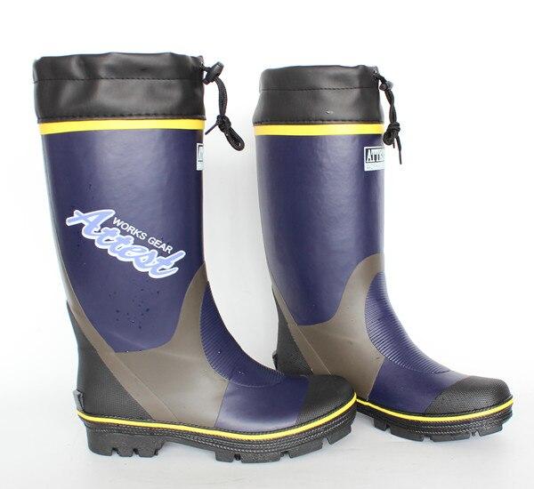 Yidaku rubber rain boots men winter fishing boots high for Rubber fishing boots