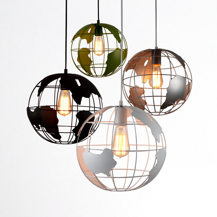 kung one combo 4pcs globe earth led pendant light modern creative arts cafe bar restaurant bedroom hallway lamp free shipping - Globe Pendant Light