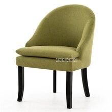 HLM-303C съемное моющееся мягкое кресло для гостиной одноместный диван простой резиновый деревянный ленивый диван балкон спальня