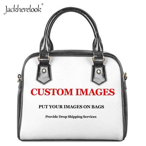 Bolsa das Senhoras Top-alça da Bolsa Carteira de Couro Jackherelook Custom Impressão Mulheres Ombro pu Crossbody Bolsas Femininas Totes Hot 3d