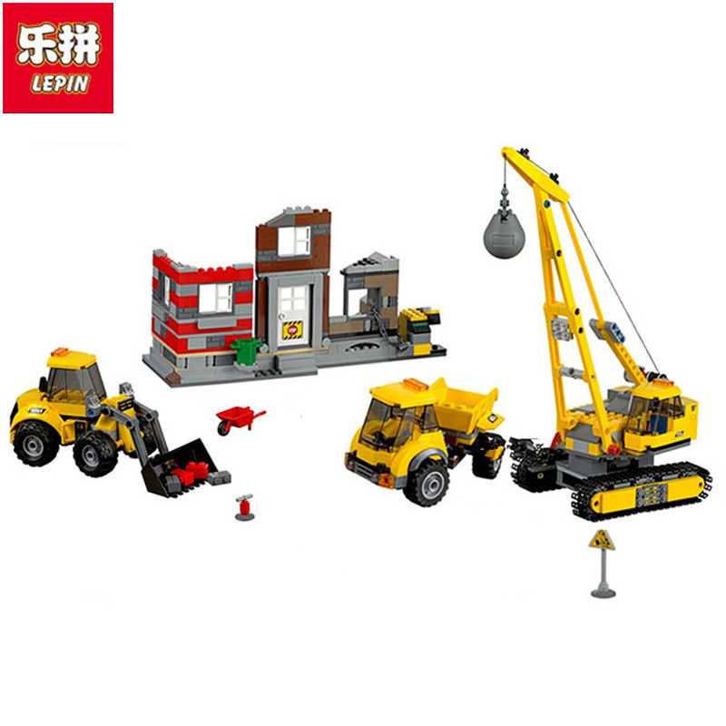 Lepin 02042 city series demolition site set The Christmas gift Geuine 60076 Building Blocks Bricks Educational DIY Gifts for Boy site forumklassika ru куплю баян юпитер