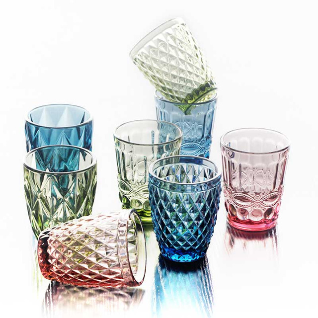 Colorful Boho Water Glasses