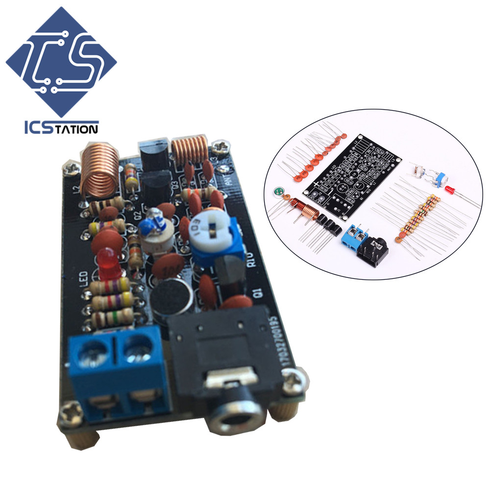 FM Wireless Transmitter DIY Kit TFM009 FM Radio DC 1.5V-9.0V for Wireless Microphone/ Low Power FM Radio/ TV Audio Forwarding fm fm transmitter mp3 wireless microphone transmitter radio transmitter board module diy suit kit of parts