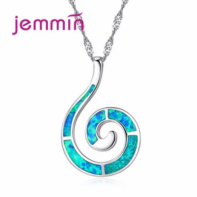 Jemmin Creative Curve Style Women & Girls Pendant Necklace 925 Sterling Silver B