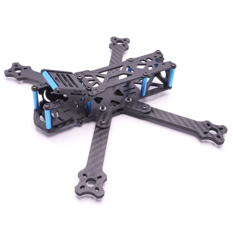 223mm Wheelbase 4mm Arm Thickness Carbon Fiber FPV Racing Frame Kit for RC Models Multicopter Motor ESC DIY Spare Part Accs awesome f100 100mm quadcopter frame kit wheelbase mini four axis aircraft pure carbon fiber for fpv rc racing drone frame kit